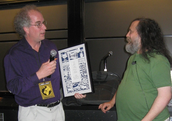 Brewster Kahle with Richard Stallman