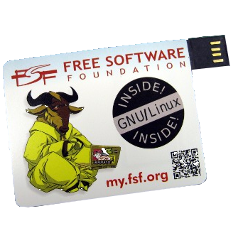 FSF USB membership card