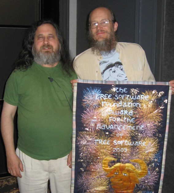 Richard Stallman with John Gilmore