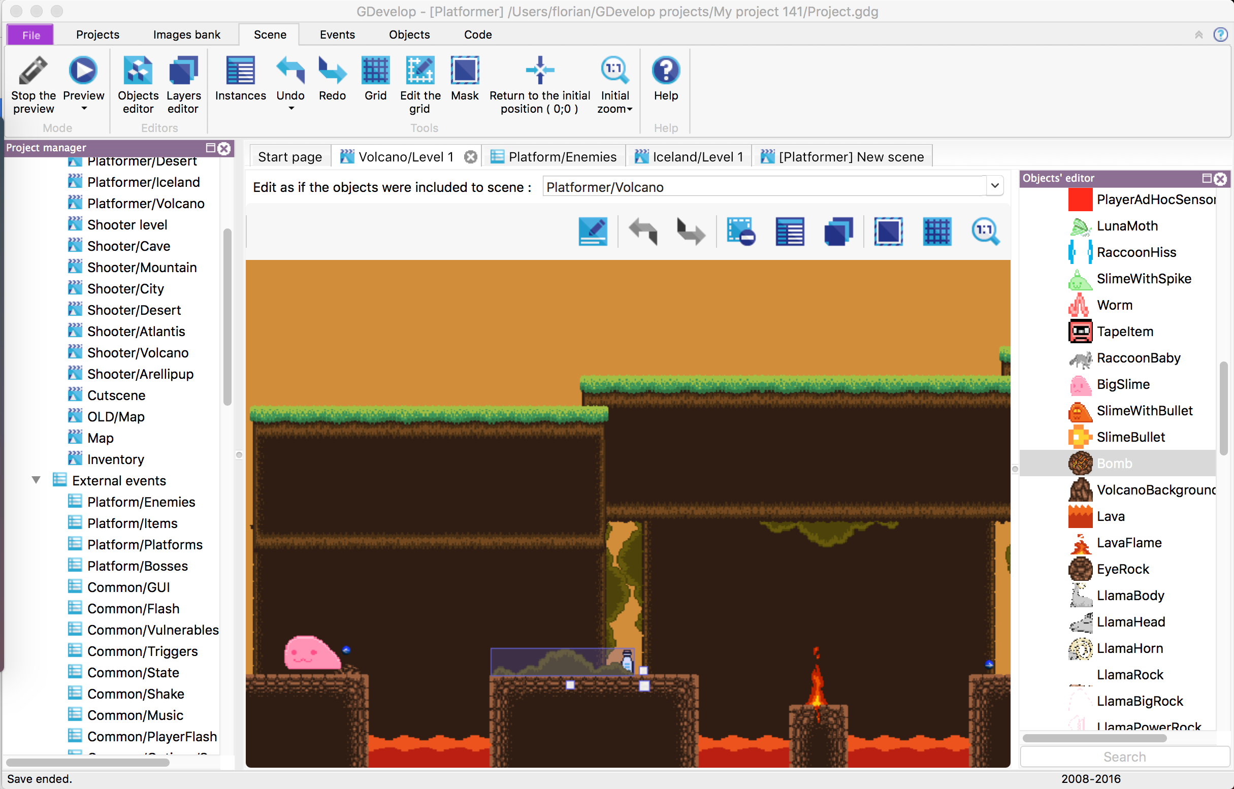 GDevelop screenshot