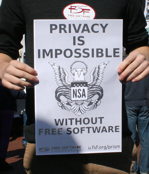 Privacy is impossible without free software