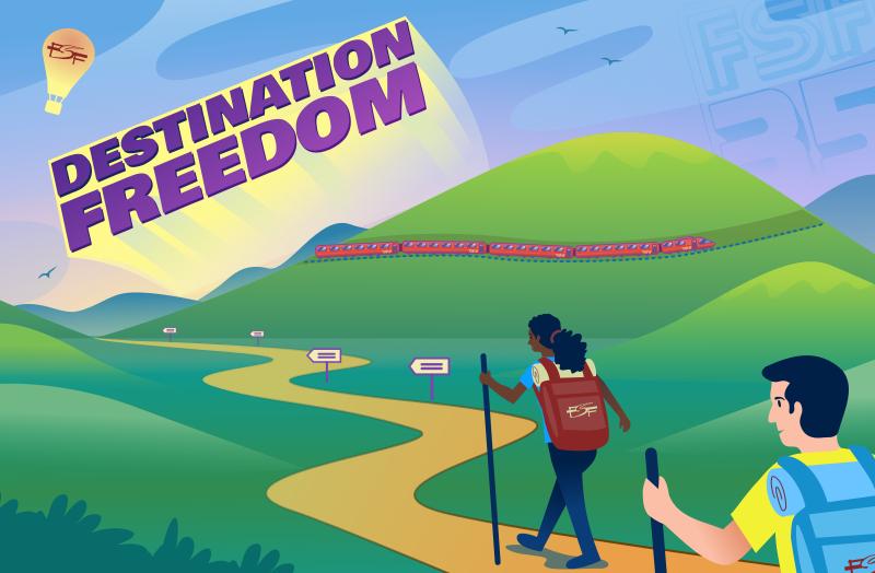 Destination: software freedom