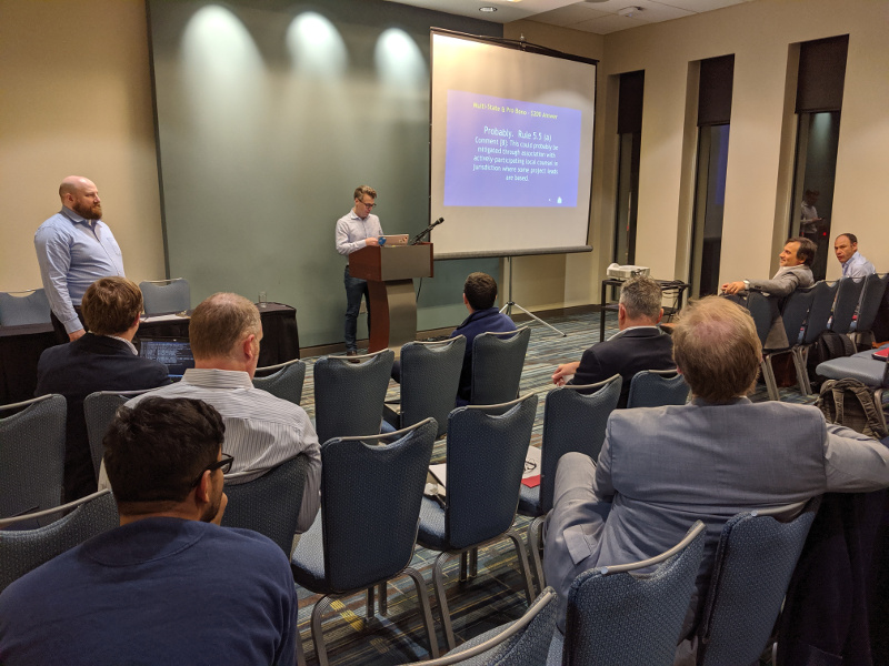 Photo of presentation at CLE in Raleigh