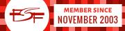 FSF member since November 2003