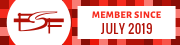 Member of the Free Software Foundation since July 2019