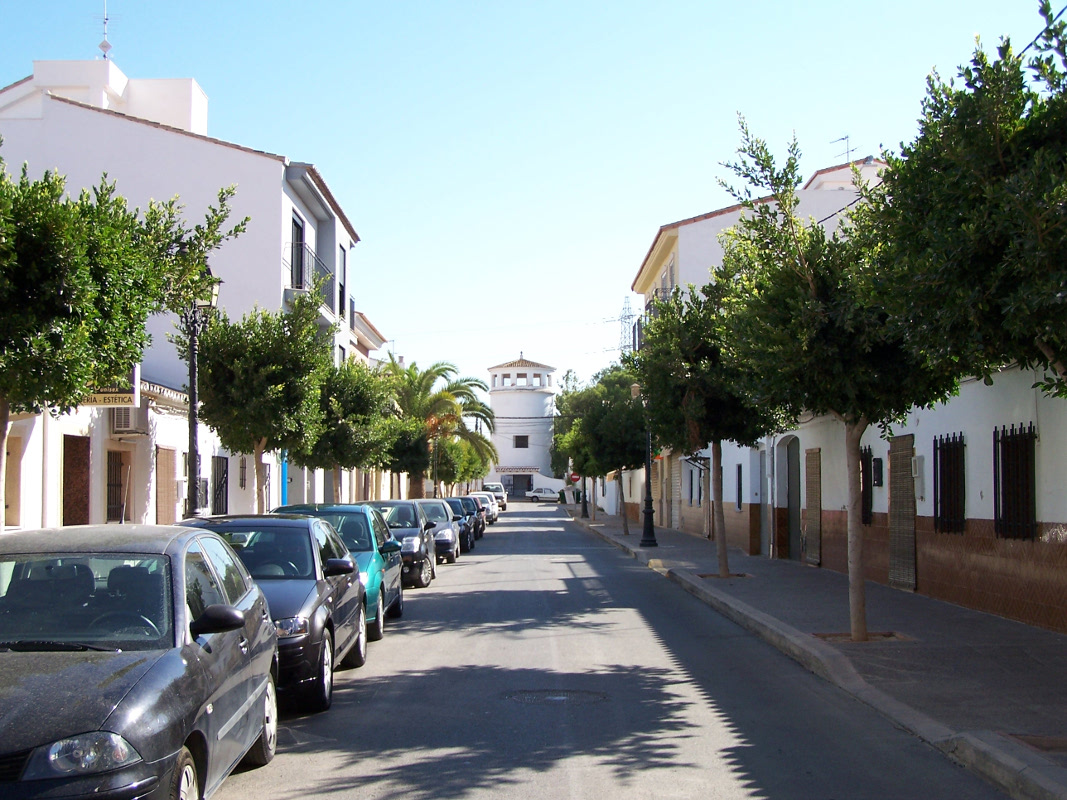 A view of the beautiful streets of San Antonio de Benagéber.