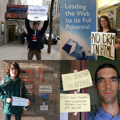 Four protesters from around the world