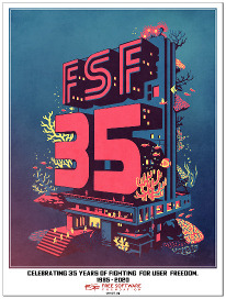 FSF35 anniversary poster (add a pin or USB)