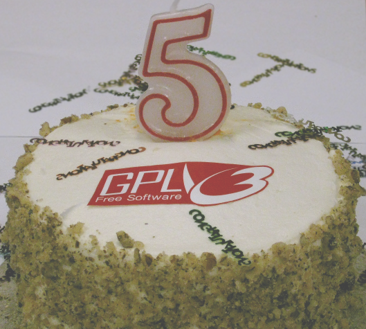 Happy 5th Birthday GPLv3