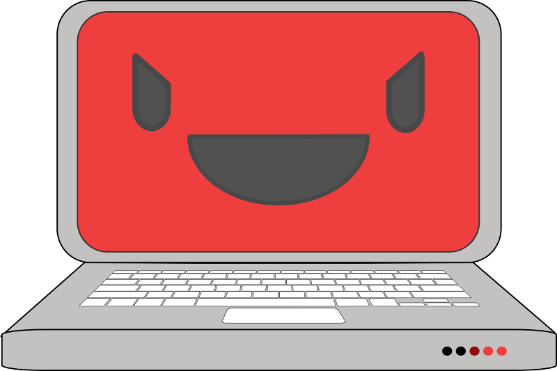 Evil Computer via https://openclipart.org/detail/204065/evil-computer-laptop - Creative Commons Zero 1.0 Public Domain License