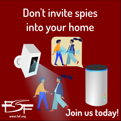 Don't invite spies into your home.