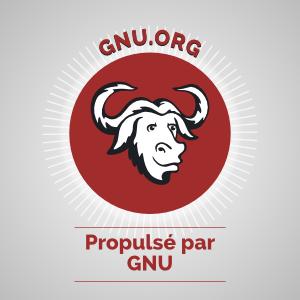 Propulé par GNU