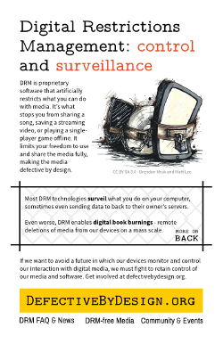 Print What is DRM flyer
