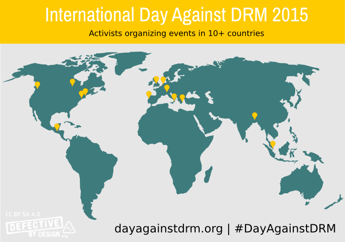 Map of events for the 2015 International Day Against DRM