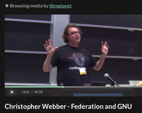 Chris Webber's LibrePlanet 2015 talk