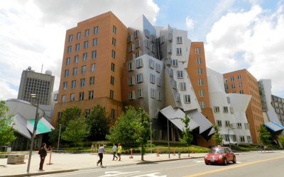 [ MIT's interesting-looking Stata Center ]