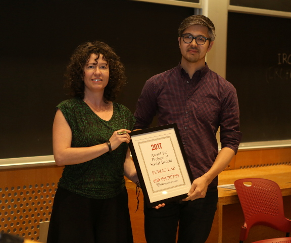 Public Lab folks with award
