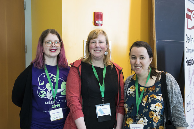 Women in free software -- Molly de Blanc, Deborah Nicholson, and Shauna Gordon-McKeon