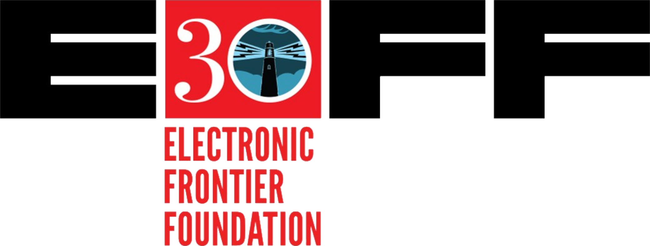 Electronic Frontier Foundation logo.
