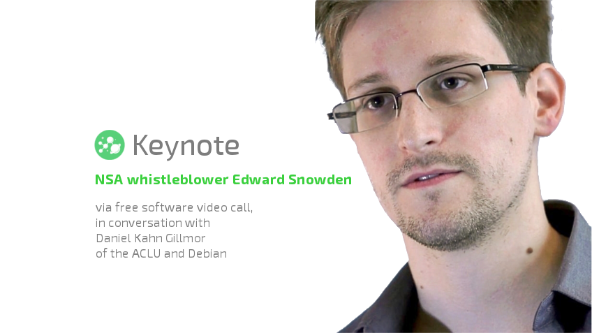 Annonce de l'intervention d'Edward Snowden