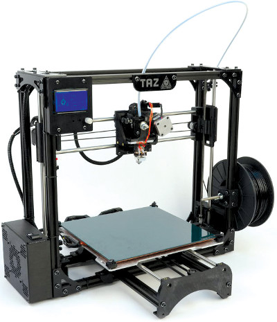 TAZ 3D printer white background