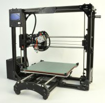 TAZ 3.0 3D printer with printed objects