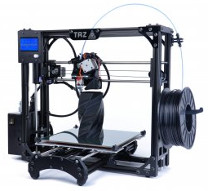TAZ 4.0 3D printer with printed objects