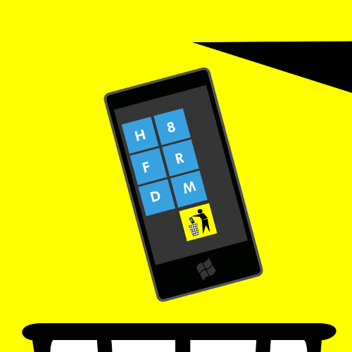 карикатура на эмблему Windows Phone 7